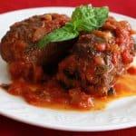 Pass the Proscuitto:  Braciole di Manza (Italian Beef Rolls in Tomato Sauce)