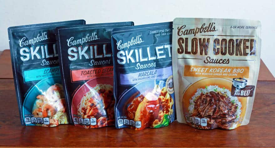 Campbell's Dinner and Slow Cooker Sauces daringgourmet.com