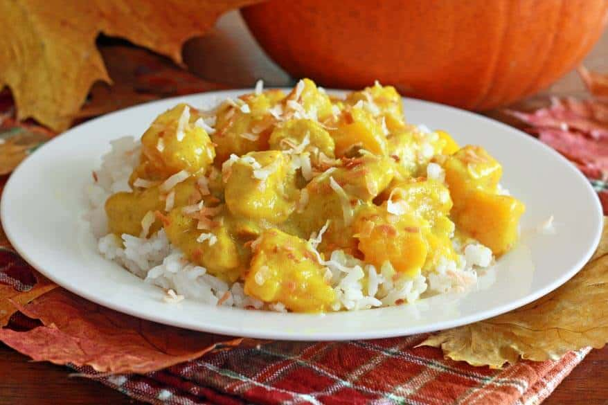 Coconut Chicken Pumpkin Curry - The Daring Gourmet