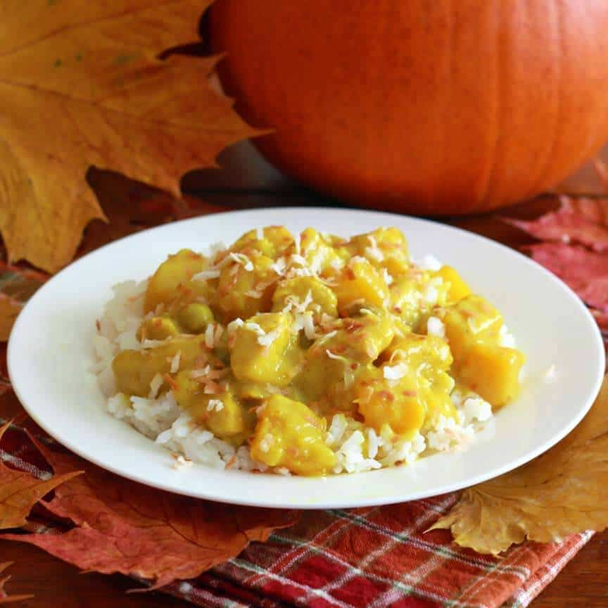 Coconut Chicken Pumpkin Curry