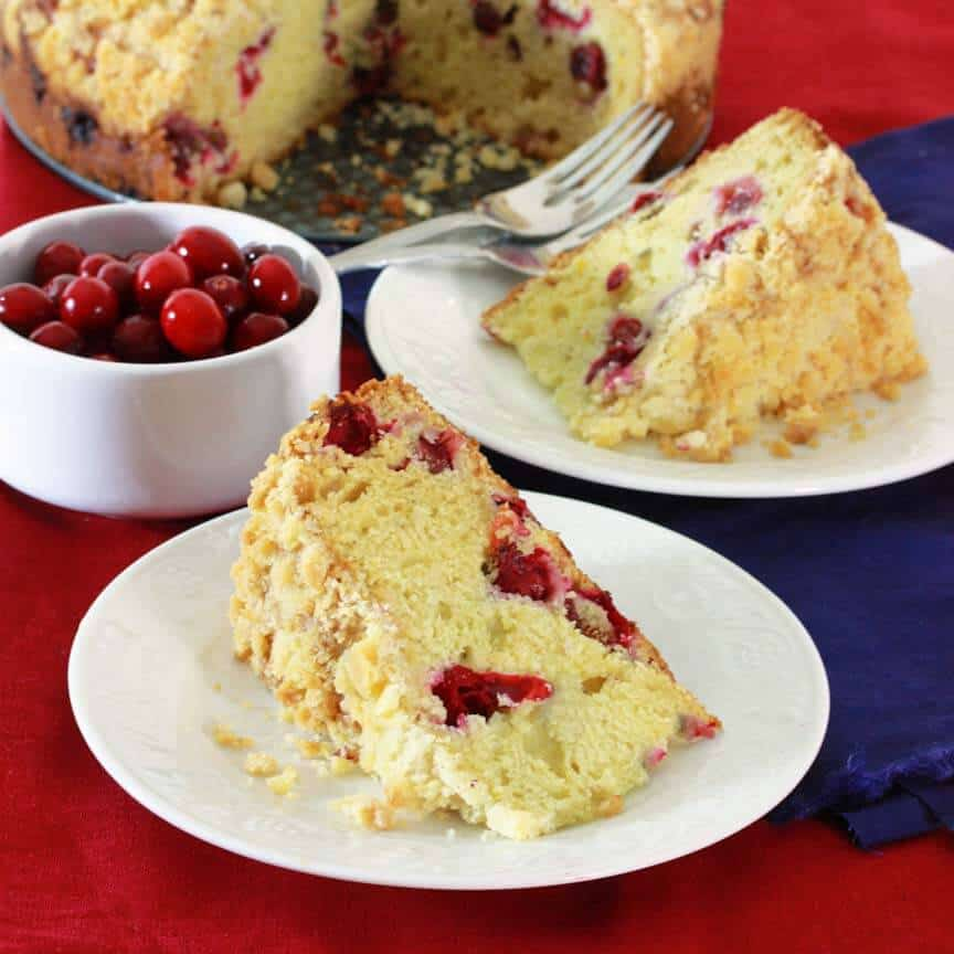 Cranberry Almond Streusel Cake Recipe