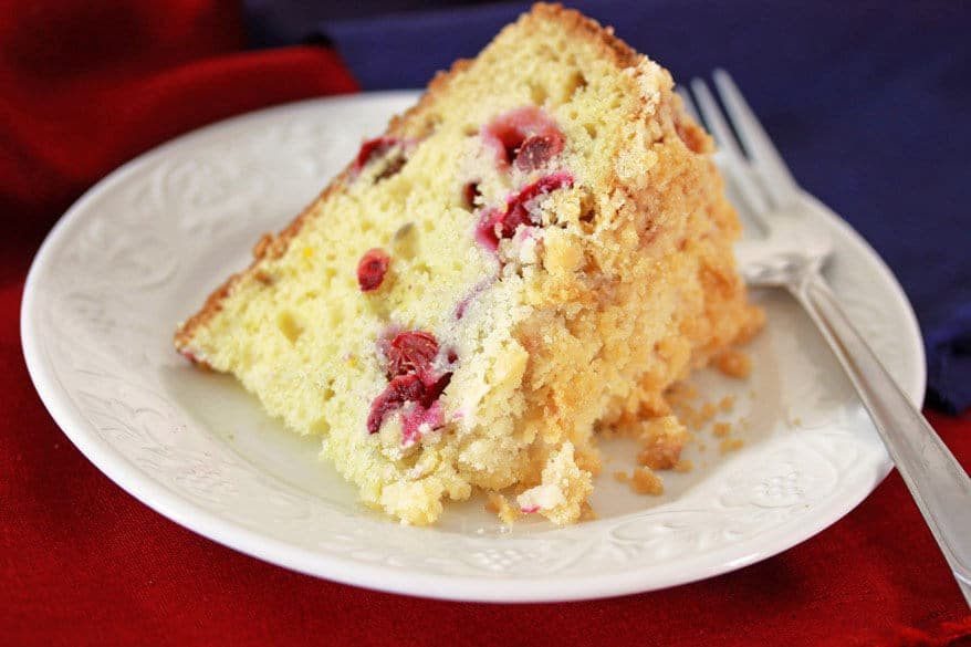 Cranberry Almond Orange Streusel Cake Recipe