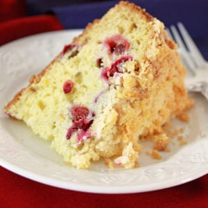 Cranberry (or Cherry) Almond Streusel Cake