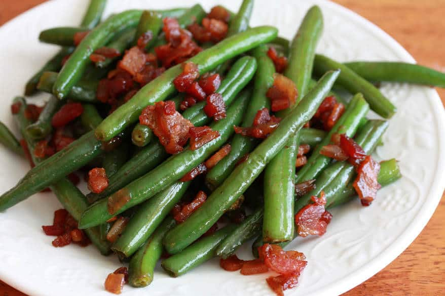 Southern Style Green Beans with Caramelized Onions and Bacon