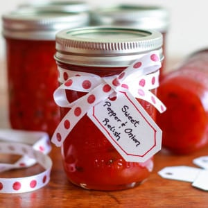 Sweet Pepper & Onion Relish {Copycat Recipe}