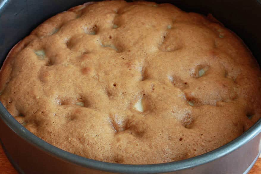 Caramel Walnut Pear Cake prep 12