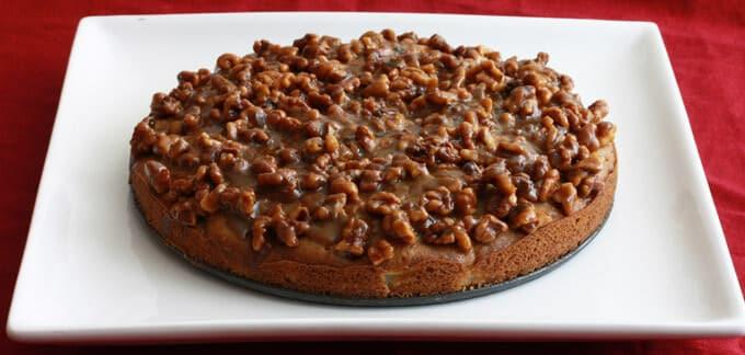 Caramel Walnut Pear Cake prep 17