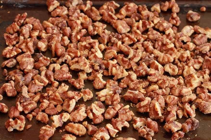 Caramel Walnut Pear Cake prep 2