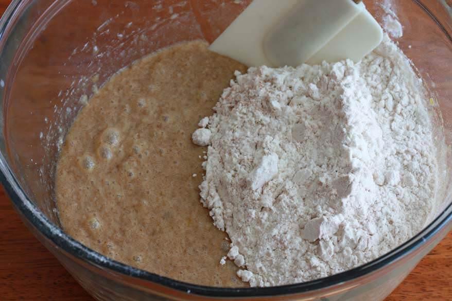 Caramel Walnut Pear Cake prep 9