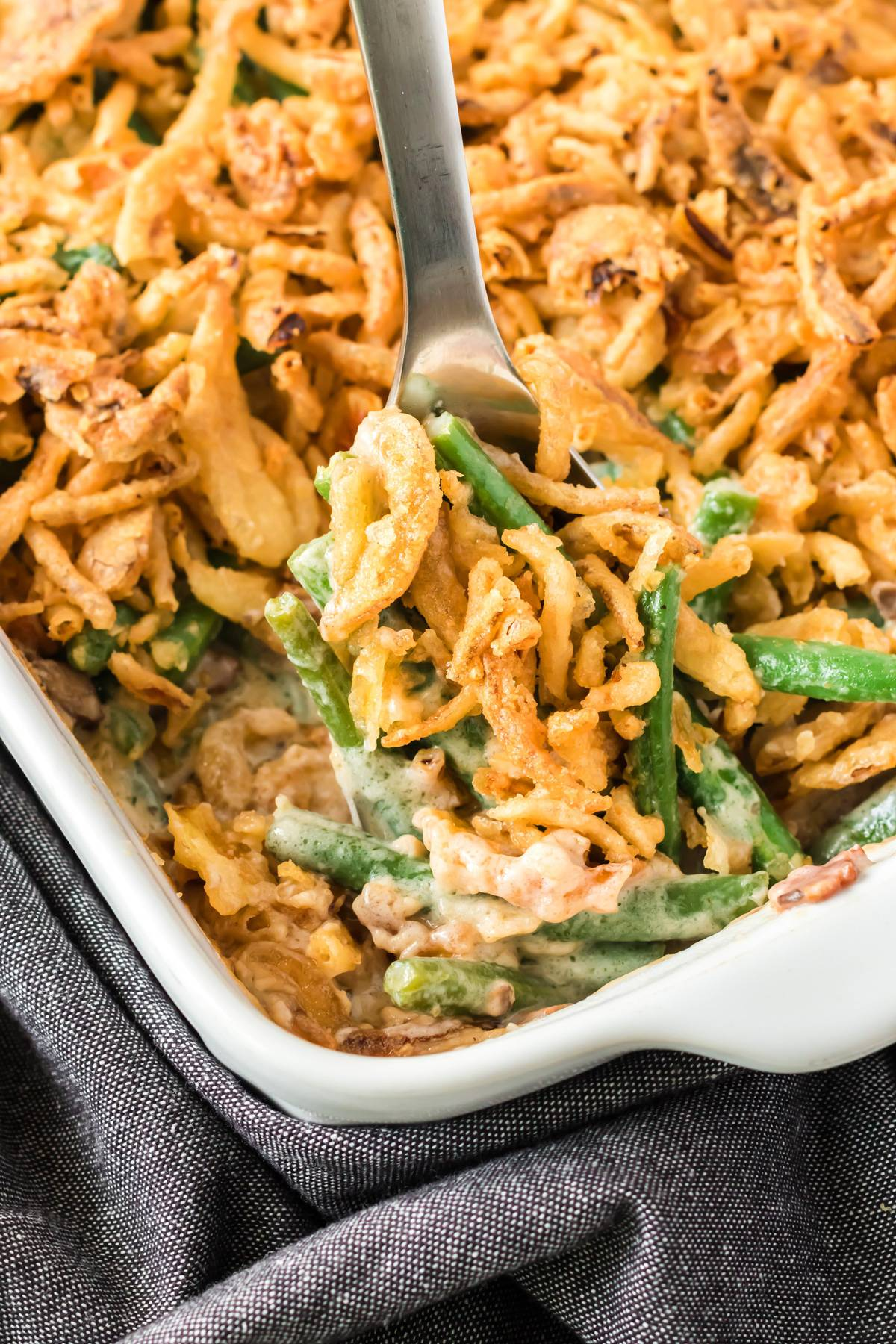 green bean casserole recipe ultimate best from scratch cheese mushrooms bacon cream daring gourmet