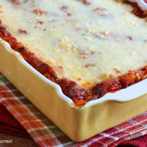 Pumpkin, Kale and Sausage Lasagna