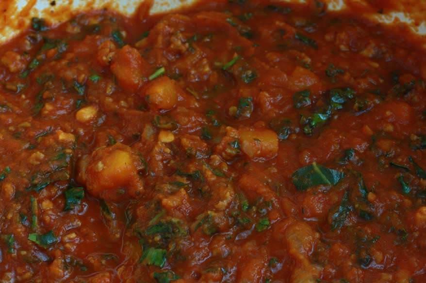 Pumpkin Kale Lasagna prep 12