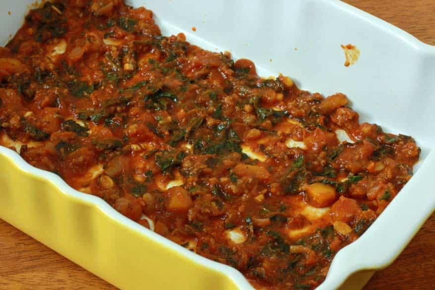 Pumpkin Kale Lasagna prep 13