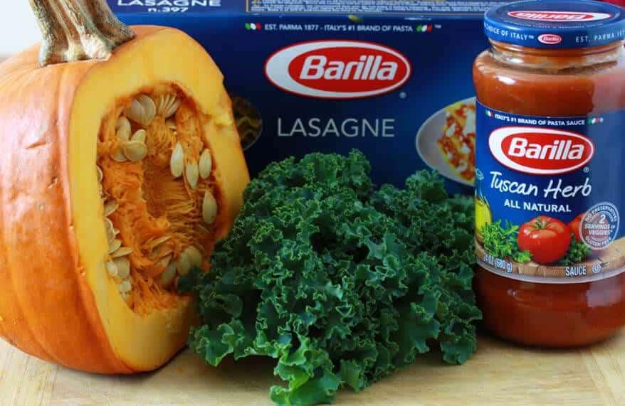 Pumpkin Kale Lasagna prep 20