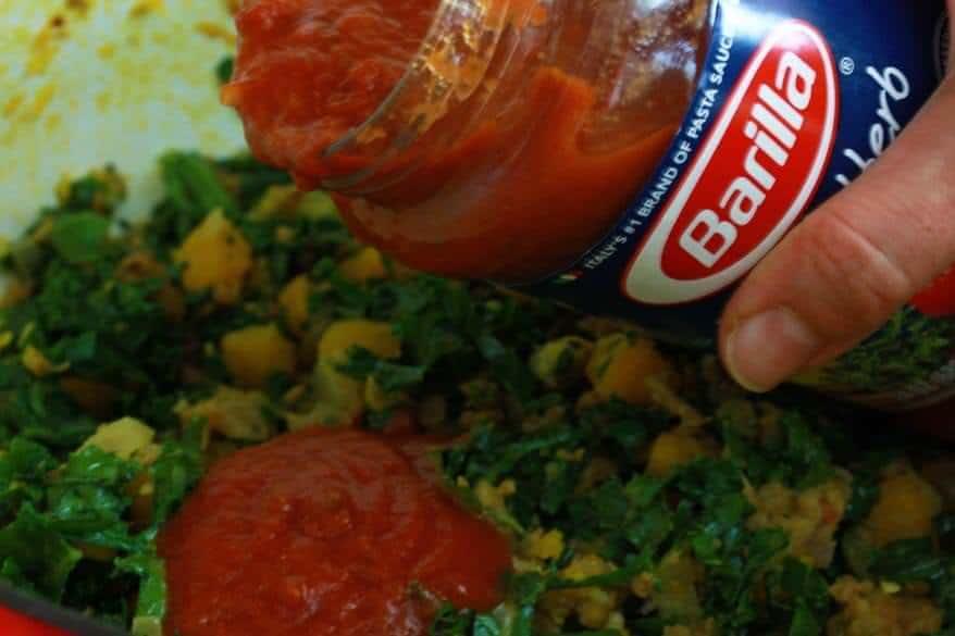 Pumpkin Kale Lasagna prep 7