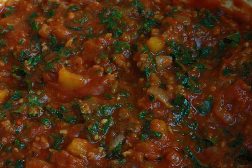 Pumpkin Kale Lasagna prep 9