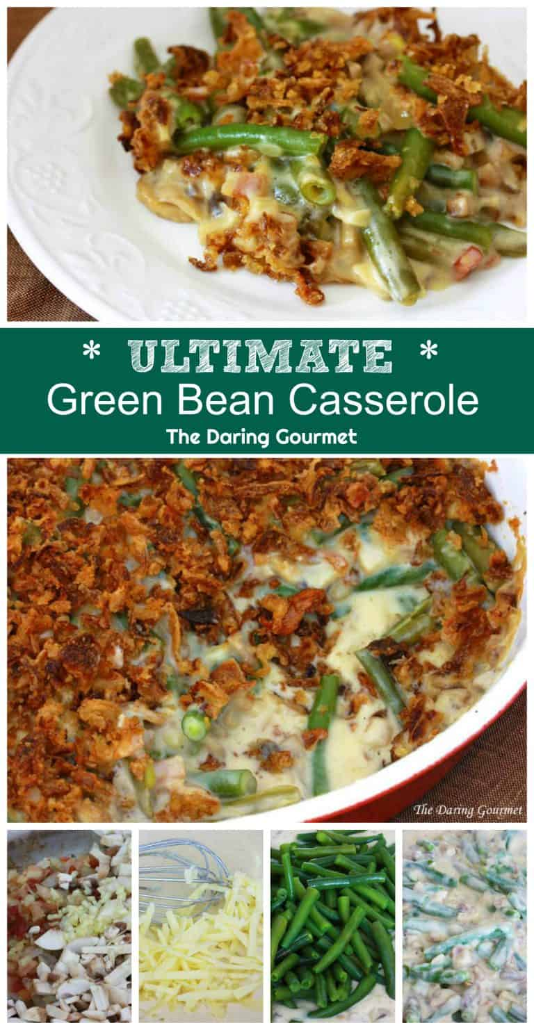 best green bean casserole recipe from scratch bacon cheese mushrooms cream