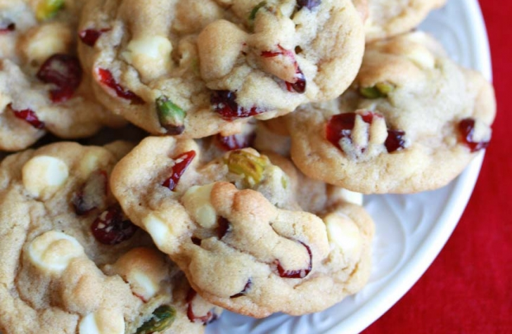 White Chocolate Cranberry/Cherry Pistachio Cookies