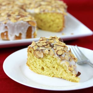 Toasted Almond Honey Cake