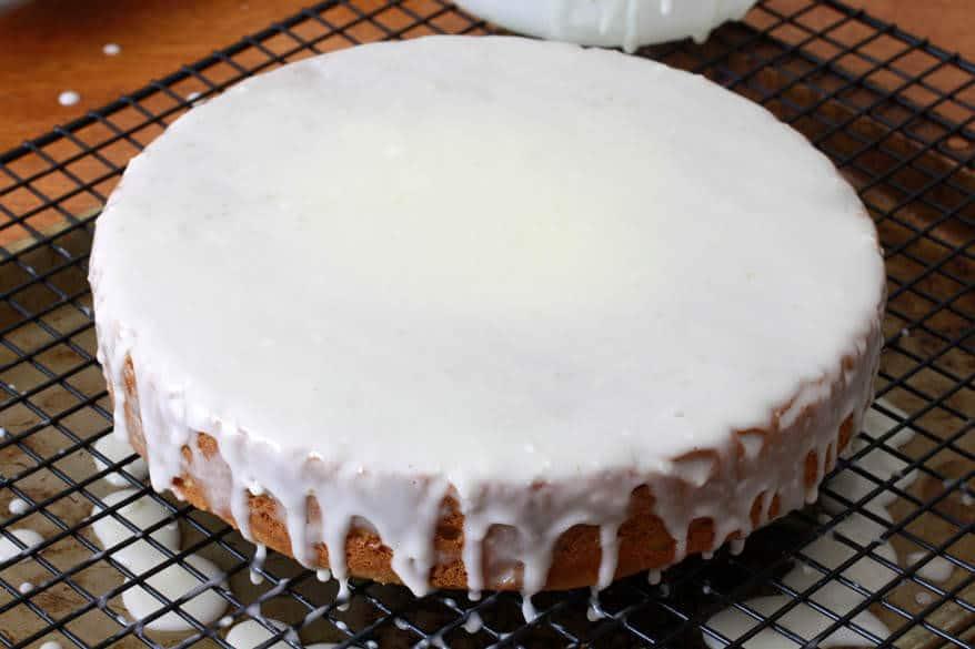 Almond Honey Cake prep 15