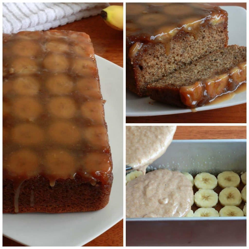 Banana Upside Down Caramel Bread