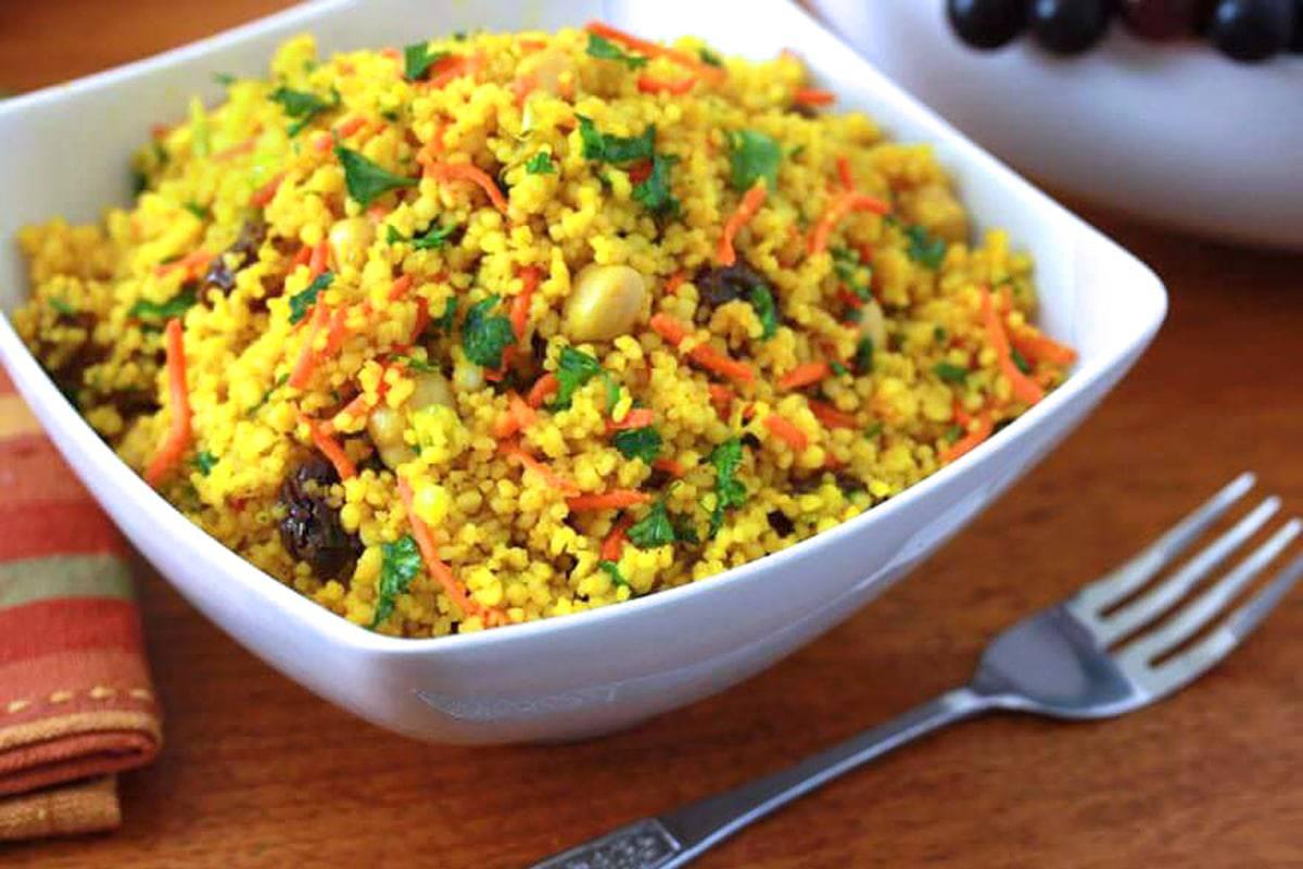 curried couscous salad recipe copycat best homemade chickpeas garbanzo beans raisins carrots