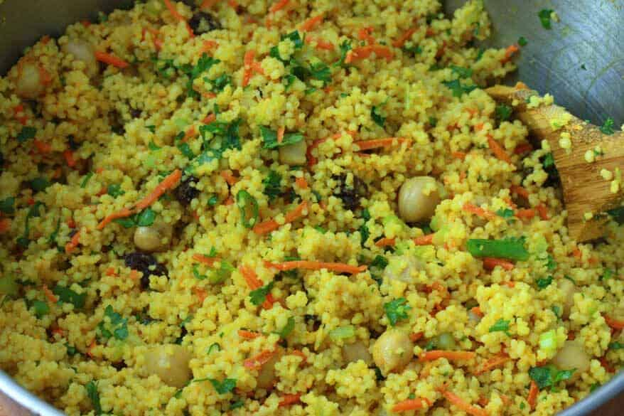 Curried Couscous Salad prep 9