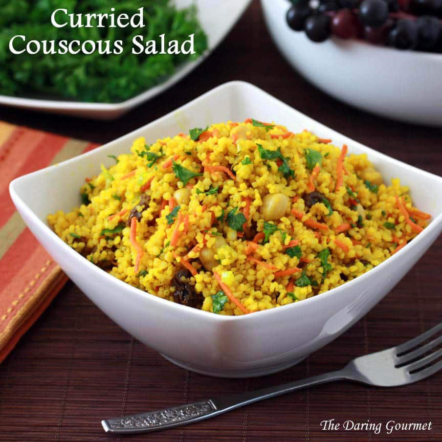 Curried couscous salad the daring gourmet for Couscous food recipe