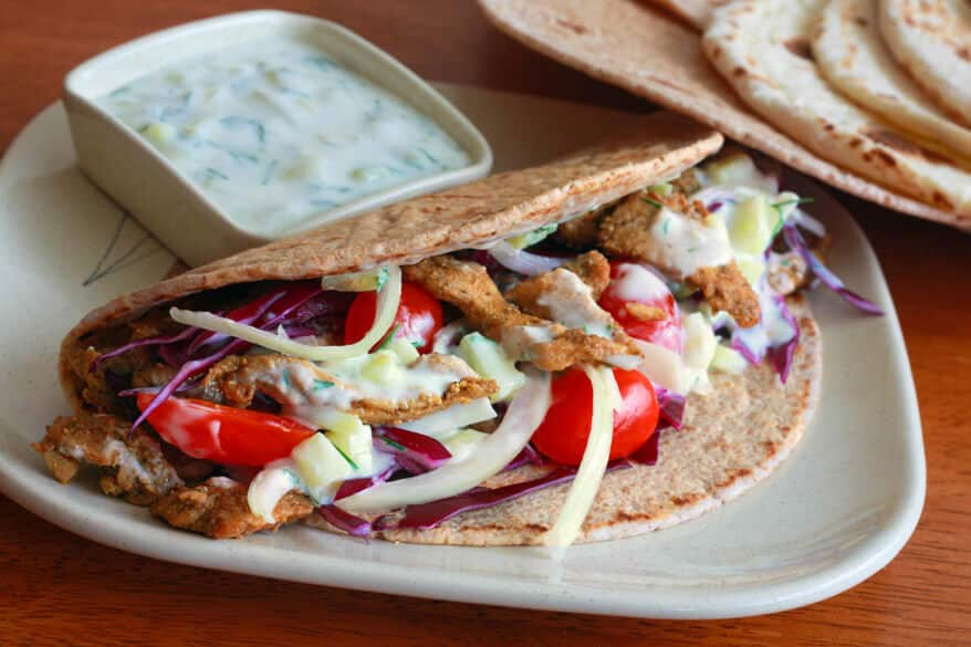 Best Homemade Greek Gyros with Tzatziki Sauce