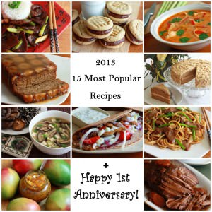 15 Most Popular Recipes of 2013 + Happy 1st Anniversary!
