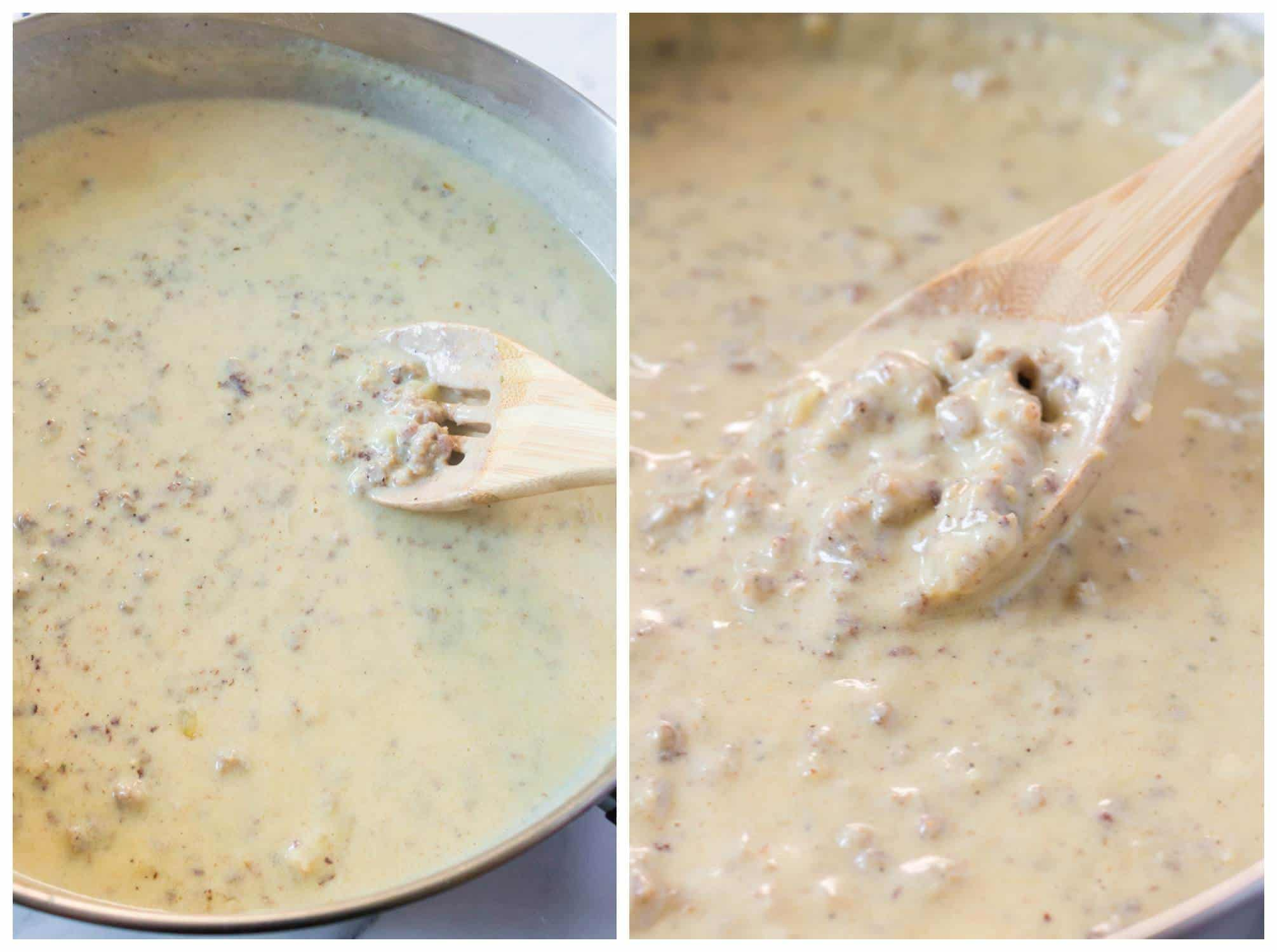 sausage gravy recipe best homemade from scratch biscuits