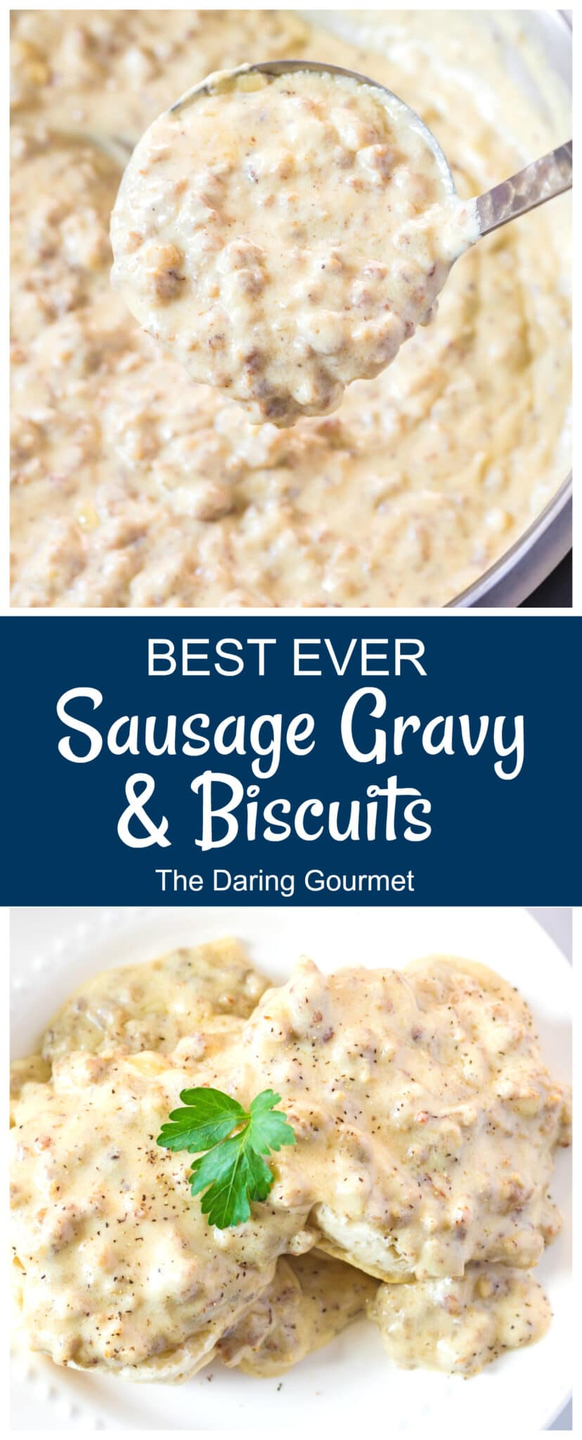 sausage gravy recipe best homemade southern style from scratch buttermilk biscuits