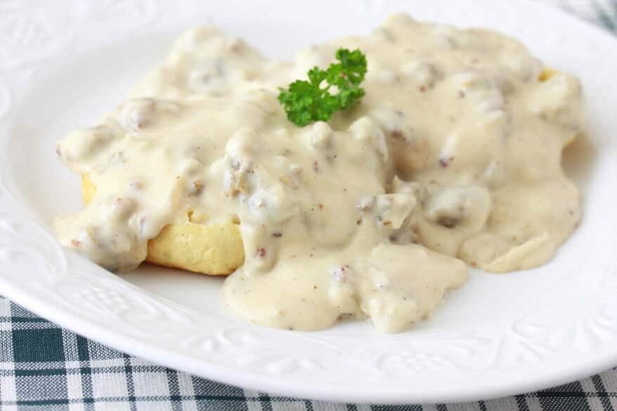 Southern Style Sausage Gravy and BIscuits