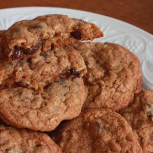 Todd's Famous Whole Wheat Oatmeal Chocolate Chip Cookies