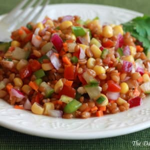 Mega Healthy Wheat Berry Salad