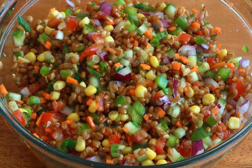 Wheat Berry Salad prep 12