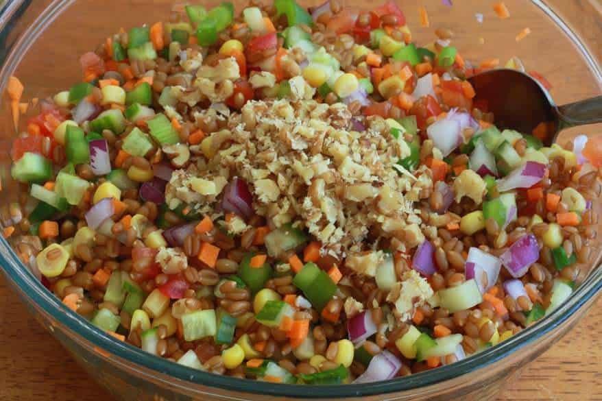Wheat Berry Salad prep 9