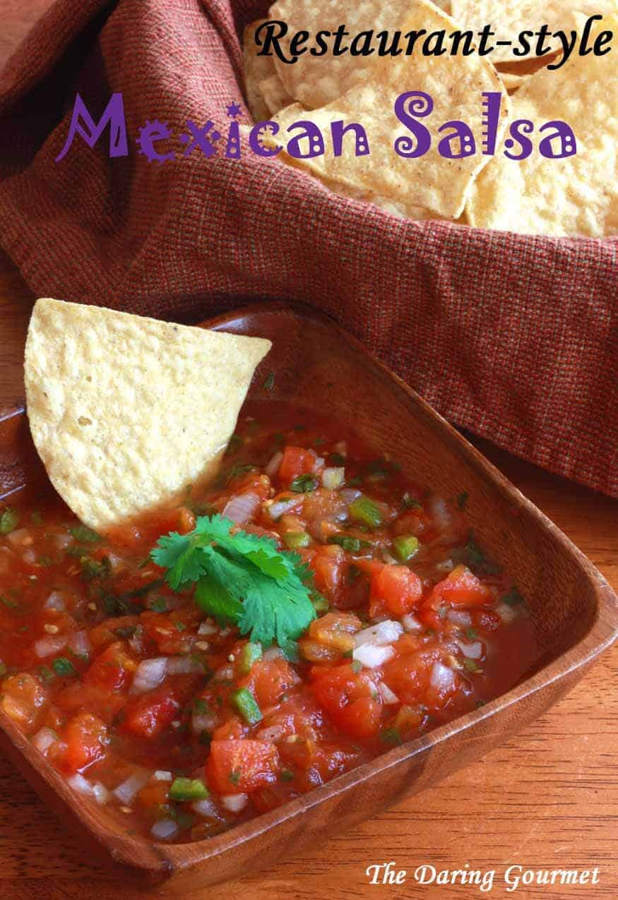 Restaurant Style Mexican Salsa The Daring Gourmet