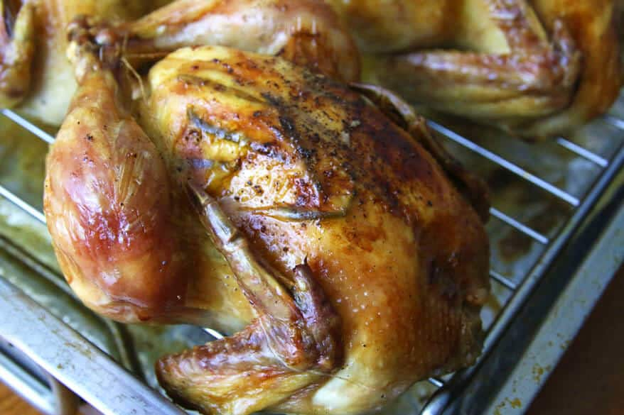 Pomegranate-Glazed Cornish Game Hens With Pine-Nut-and-Currant Bread ...