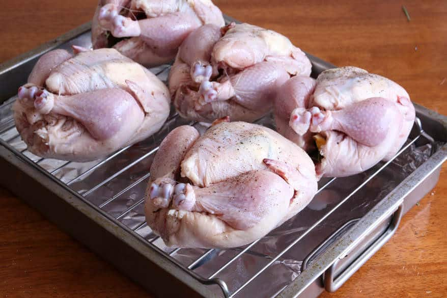 Cornish Game Hens prep 9