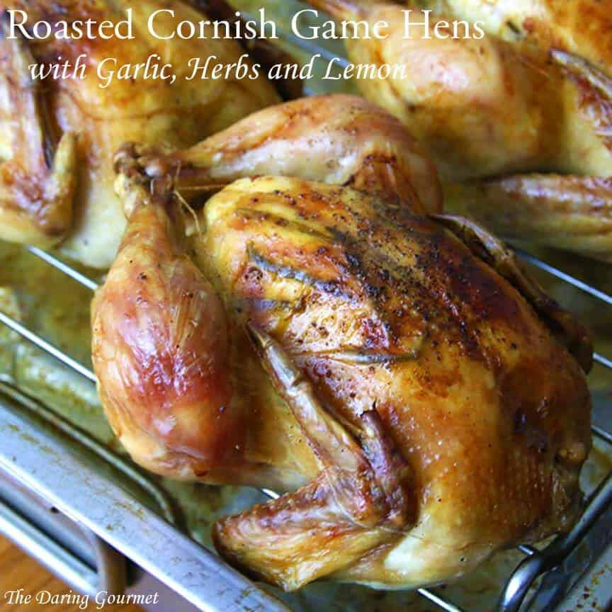 cornish game hen recipe roasted oven lemon garlic herbs rosemary thyme crispy easy