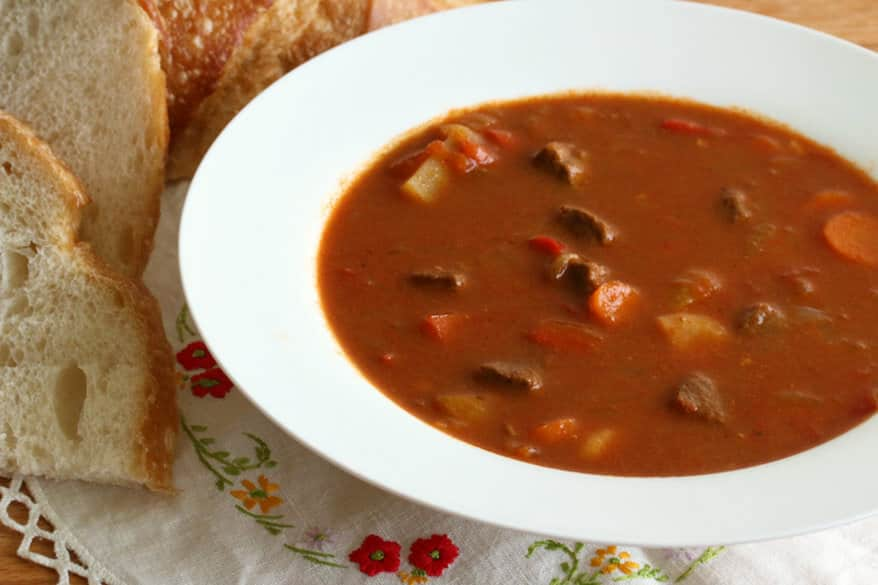 Traditional Hungarian Goulash Gulyas The Daring Gourmet