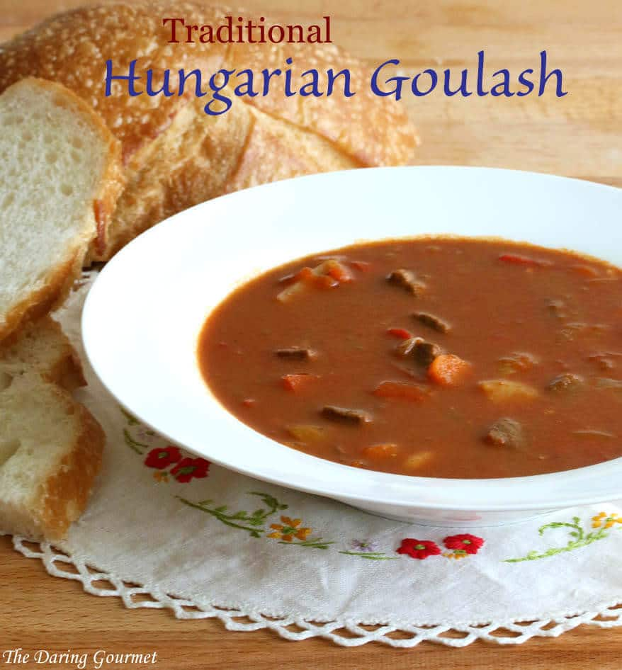 traditional authentic Hungarian goulash recipe soup stew beef gulyas