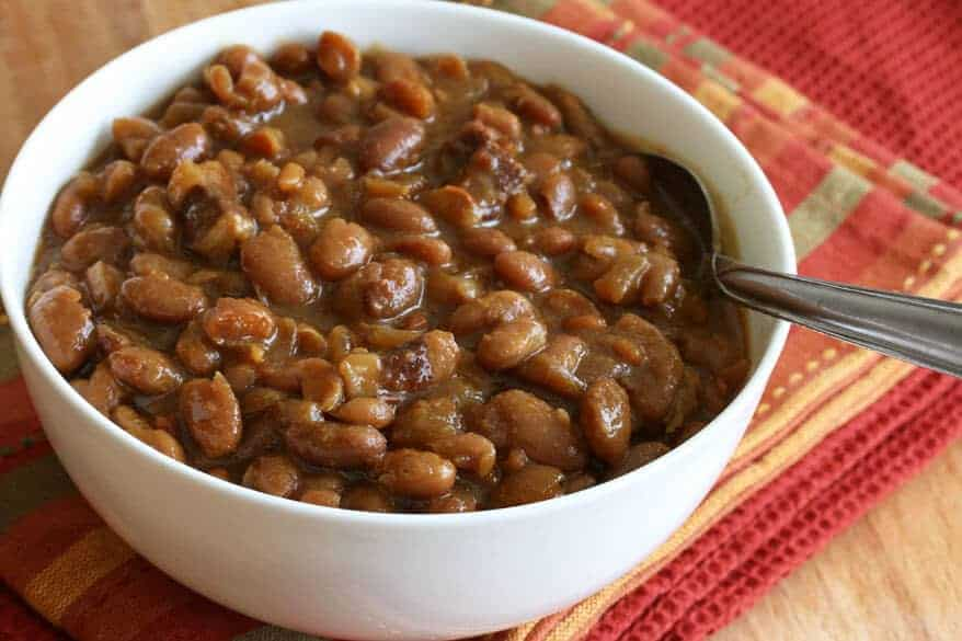 Maple Spice Boston Baked Beans - The Daring Gourmet
