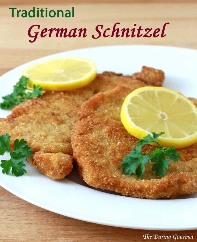 Traditional german schnitzel schweineschnitzel the daring gourmet how to make homemade german schnitzel pork recipe traditional authentic forumfinder Gallery