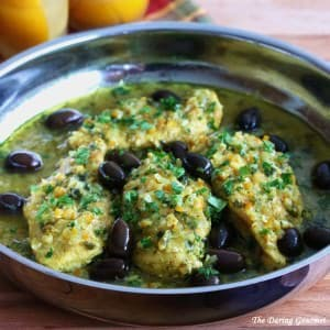 Moroccan chicken recipe preserved lemons olives djej makalli
