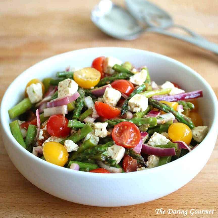 Grilled Asparagus Greek Salad 3