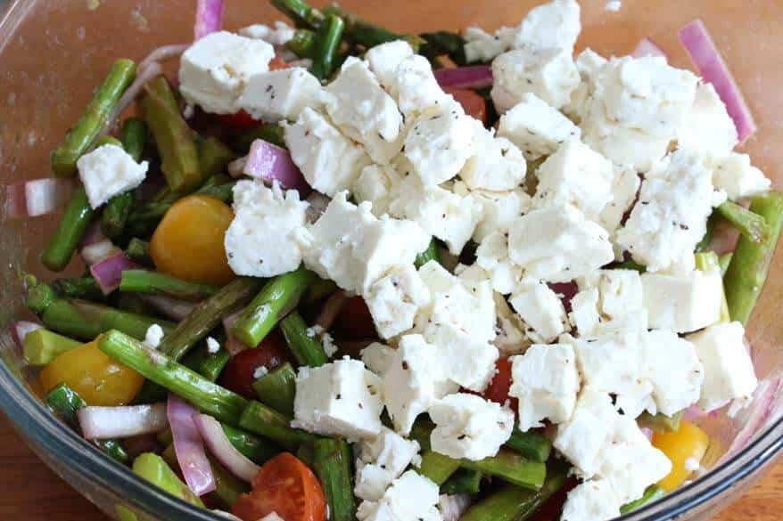 Grilled Asparagus Greek Salad prep 14