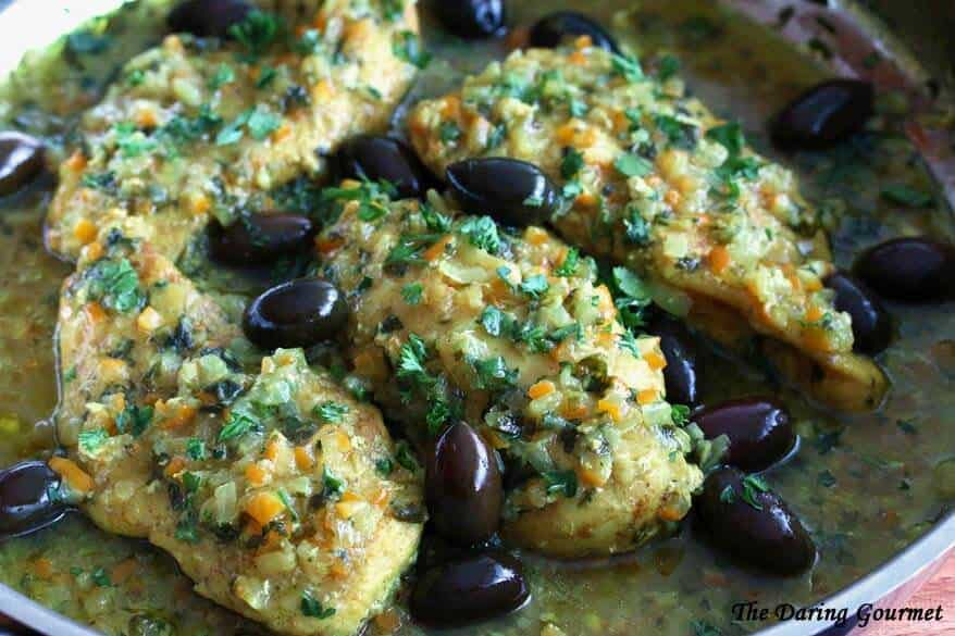Moroccan Chicken with Preserved Lemon and Olives (Djej Makalli) - The ...