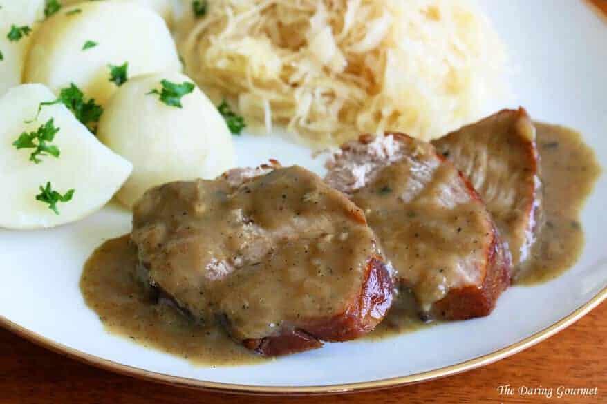 German Senfbraten recipe mustard pork roast traditional authentic